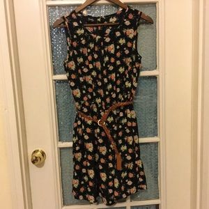 By & By Floral Dress with belt size medium